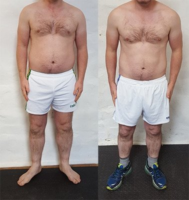 Body transformation before and after