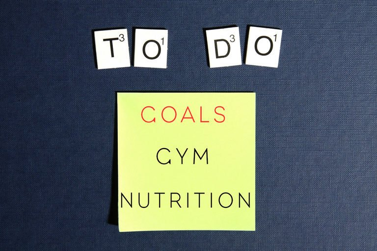 "Fridge magnet and post note saying "" to do - goals - gym - nutrition"""